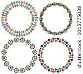 moroccan tile circle frames... | Shutterstock .eps vector #1015775038