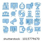 glyph icons set of search...   Shutterstock .eps vector #1015779670
