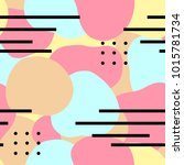 abstract memphis seamless... | Shutterstock .eps vector #1015781734