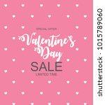 valentines day sale  discount... | Shutterstock . vector #1015789060