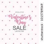 valentines day sale  discount... | Shutterstock . vector #1015789069
