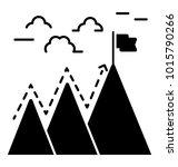Determination Glyph Icon ...