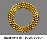 golden  circle  op art frame  ... | Shutterstock . vector #1015790509