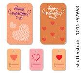 valentines day sale background... | Shutterstock . vector #1015792963