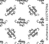 hand written doodle happy... | Shutterstock . vector #1015792966