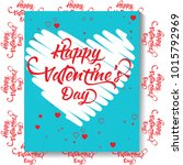 calligraphic lettering... | Shutterstock . vector #1015792969