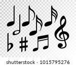 music note icons vector set ... | Shutterstock .eps vector #1015795276