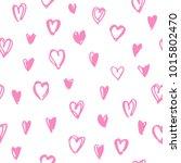 hearts seamless pattern. hand... | Shutterstock .eps vector #1015802470