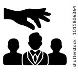 candidate selection. glyph... | Shutterstock .eps vector #1015806364
