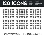 set of 120 icons with different ...