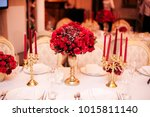 Decorated Table In Gold And...