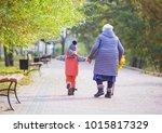 little boy and great... | Shutterstock . vector #1015817329