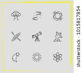 astronomy line icon set...   Shutterstock .eps vector #1015817854