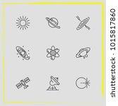 astronomy line icon set... | Shutterstock .eps vector #1015817860