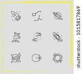 astronomy line icon set saturn... | Shutterstock .eps vector #1015817869