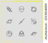 astronomy line icon set rocket  ...   Shutterstock .eps vector #1015818004