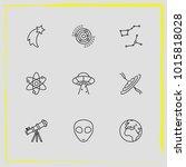 astronomy line icon set planet  ...   Shutterstock .eps vector #1015818028