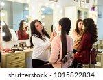 make up artist doing...   Shutterstock . vector #1015822834