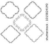set of vector vintage frames on ... | Shutterstock .eps vector #1015824190