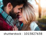 couple having romantic moments... | Shutterstock . vector #1015827658
