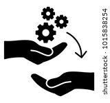 transferring skill. glyph icon ... | Shutterstock .eps vector #1015838254