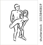 kama sutra sex pose man and... | Shutterstock .eps vector #1015840819