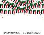 sudan flags garland white... | Shutterstock .eps vector #1015842520