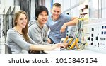 group of cheerful young... | Shutterstock . vector #1015845154