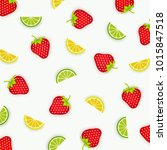 colorful pattern of lemons ... | Shutterstock .eps vector #1015847518