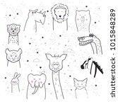 animal cartoon set isolated on... | Shutterstock .eps vector #1015848289