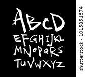 vector fonts   handwritten... | Shutterstock .eps vector #1015851574