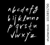 vector fonts   handwritten... | Shutterstock .eps vector #1015851700