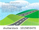landscape background with green ... | Shutterstock .eps vector #1015853470