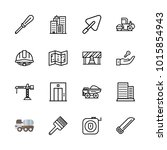 icons architecture. vector work ... | Shutterstock .eps vector #1015854943
