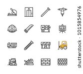 icons architecture. vector... | Shutterstock .eps vector #1015854976