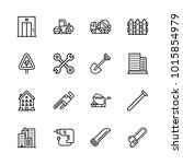 icons architecture. vector nail ... | Shutterstock .eps vector #1015854979