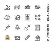icons architecture. vector... | Shutterstock .eps vector #1015855090