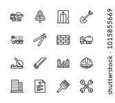 icons architecture. vector work ... | Shutterstock .eps vector #1015855669
