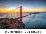 Sunrise Seen From Golden Gate...