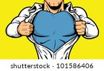 comic book superhero opening... | Shutterstock .eps vector #101586406