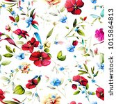 seamless floral background... | Shutterstock .eps vector #1015864813