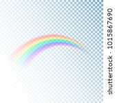 rainbow icon. colorful light... | Shutterstock . vector #1015867690