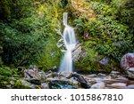 waterfall in mount aspiring...   Shutterstock . vector #1015867810