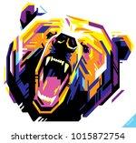 pop art portrait of agressive...   Shutterstock .eps vector #1015872754