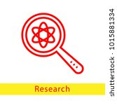 research vector icon | Shutterstock .eps vector #1015881334