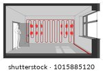 3d illustration of room heated... | Shutterstock . vector #1015885120