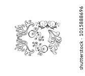 floral decorative element | Shutterstock .eps vector #1015888696