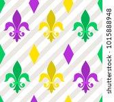 seamless pattern with heraldic...   Shutterstock .eps vector #1015888948