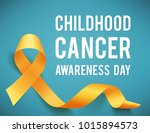 poster for childhood cancer... | Shutterstock .eps vector #1015894573