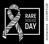 poster for rare disease... | Shutterstock .eps vector #1015895128